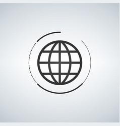 globe icon globe symbol flat with circle around vector image