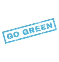Go Green Rubber Stamp vector