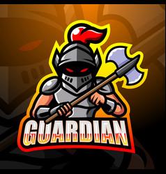Guardian mascot esport logo design vector