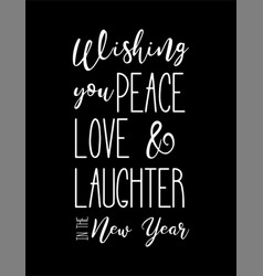 Happy new year wish hand lettering calligraphy vector