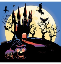 Haunted Halloween Castle3 vector