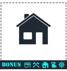 Home icon flat vector