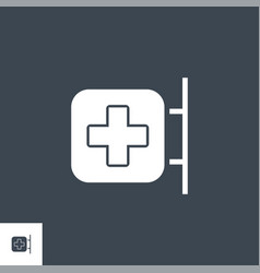 hospital signboard related glyph icon vector image