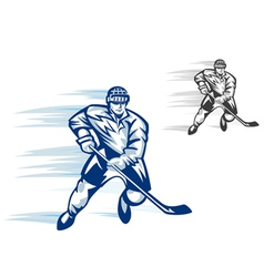 Ice hockey player vector