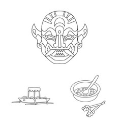 Isolated object balinese and caribbean logo vector