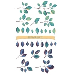 Leaves and branches set vector