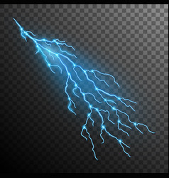 lightning effect isolated on transparent vector image vector image