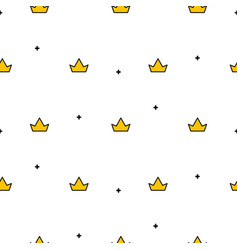 Little cute crowns seamless pattern vector