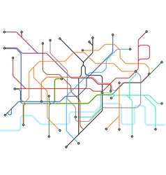 London underground map subway public vector