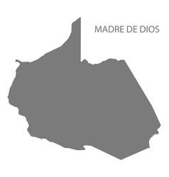 Madre de dios peru map grey vector