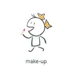 Makeup vector image
