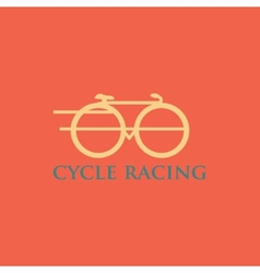 Minimalistic bicycle icon vector