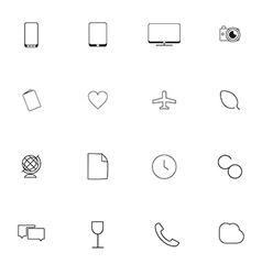 Minimalistic icons for websites and applications vector