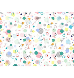 modern memphis geometric colorful pattern style vector image