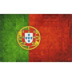 Mosaic Flag of Portugal vector