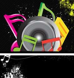 Music banner grunge style vector