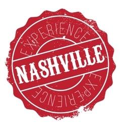 Nashville stamp rubber grunge vector
