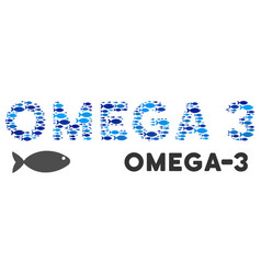 Omega-3 text collage vector