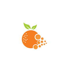 Orange with circles effects for logo design vector