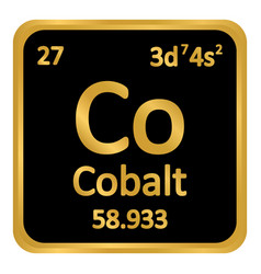 Periodic table element cobalt icon vector