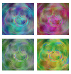 pixel background abstract in four different color vector image