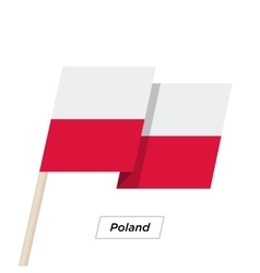 Poland Ribbon Waving Flag Isolated on White vector