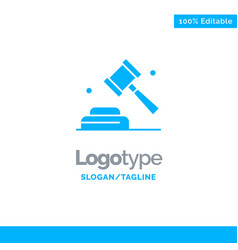 Politics law campaign vote blue solid logo vector