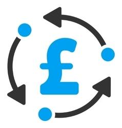 Pound Rotation Flat Icon Symbol vector