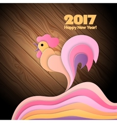 Red fire rooster as symbol of new year 2017 vector image
