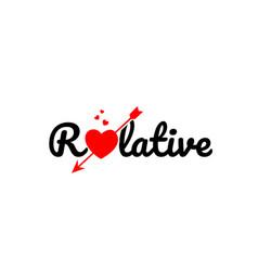 Relative word text typography design logo icon vector