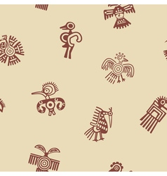 Seamless background with American Indians relics vector image