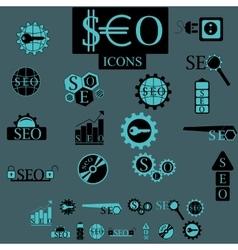 Seo elements set vector