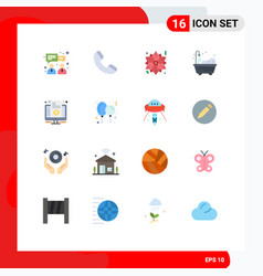 Set 16 flat colors on grid for purchase vector