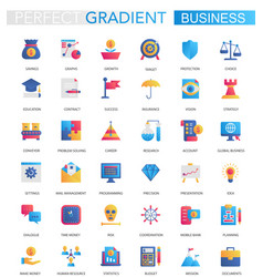 set of trendy flat gradient business vector image