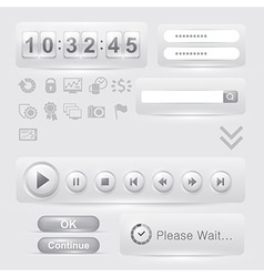 set of user interface elements templates vector image