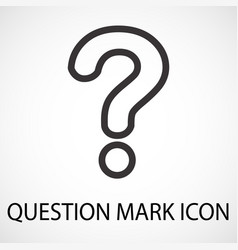 simple question mark line icon vector image