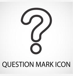 simple question mark line icon vector image