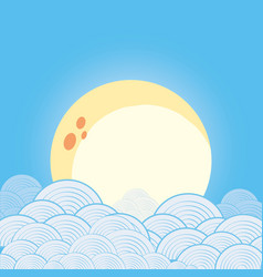 sky with clouds design vector image