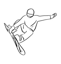 snowboarder jumping in the air vector image