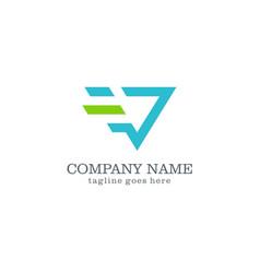 Speed triangle logo design vector