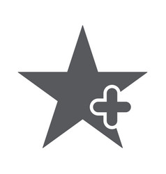 star icon with add sign vector image