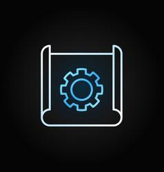 Technical documentation thin line creative vector