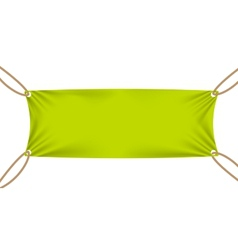 Textile banners with Sale Text Suspended by Ropes vector