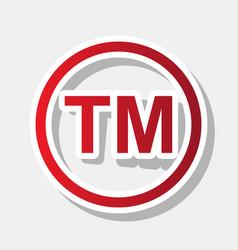trade mark sign new year reddish icon vector image