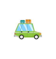 travel car flat icon travel tourism vector image