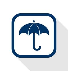 umberlla flat icon vector image