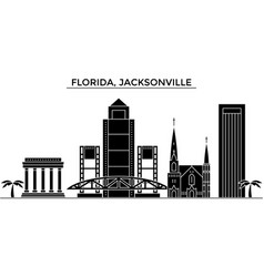 Usa florida jacksonville architecture vector