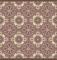 vintage medallion mandala ornamental pattern vector image