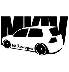 Volkswagen golf 4 vector