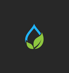 water eco nature green leaf logo vector image